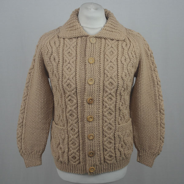 3A Lumber Cardigan 602a Biscuit Front