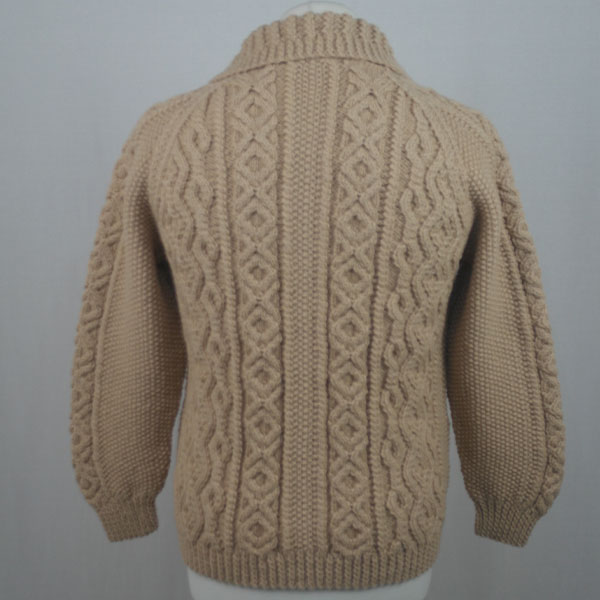 3A Lumber Cardigan 602b Biscuit Back