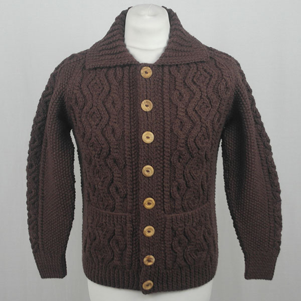 3A Lumber Cardigan 604a Coffee Front