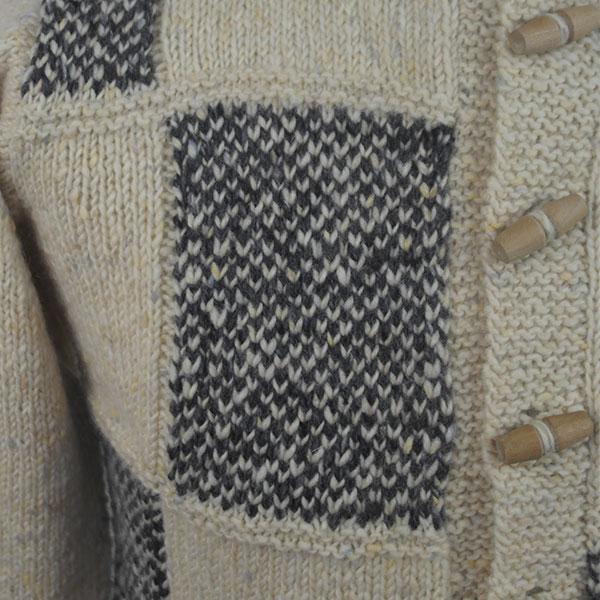 3I Boxed Jacket 562c Cream-Charcoal