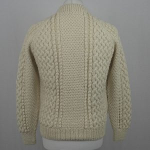 4B Golfer Cardigan 596b Cream Back
