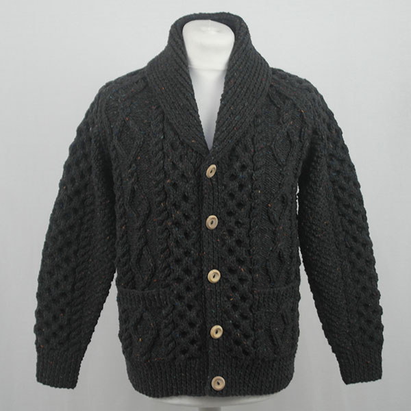 6A Shawl Collar Cardigan 559a Charcoal 7033