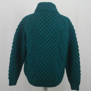 6A Shawl Collar Cardigan 580b Teal Back
