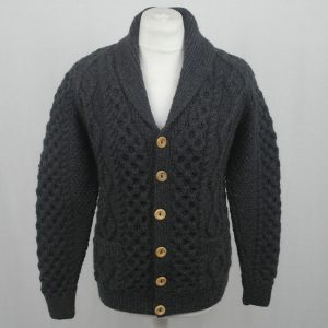 6A Shawl Collar Cardigan 583a Soot Front