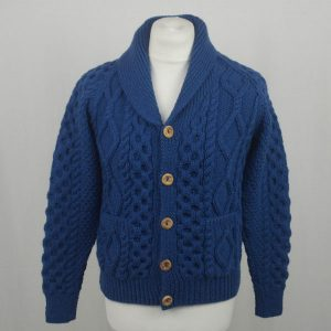 6A Shawl Collar Cardigan 588a Cobalt Front