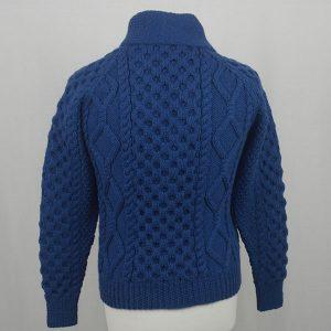 6A Shawl Collar Cardigan 588b Cobalt Back