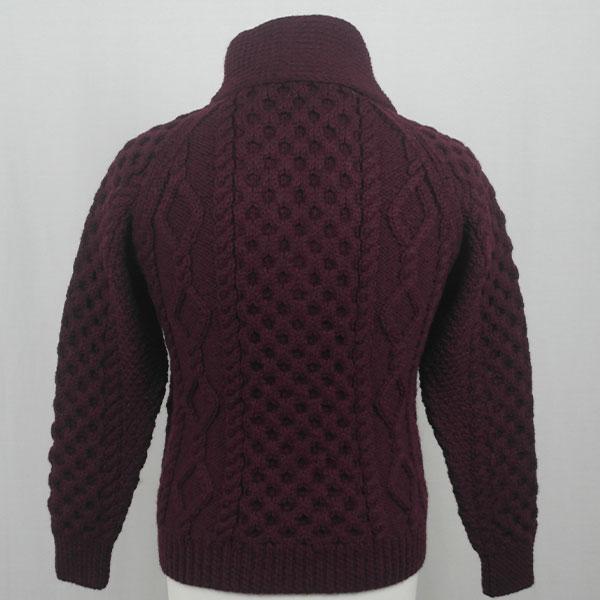 6A Shawl Collar Cardigan 589b Claret Back