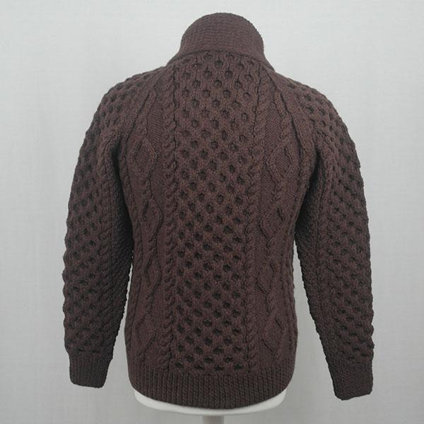 6A Shawl Collar Cardigan 590b Coffee Back