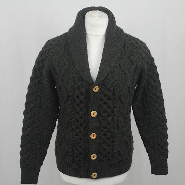 6A Shawl Collar Cardigan 591a Pine Front