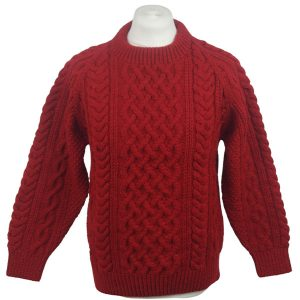 1A Country Meetings Crew Neck Sweater 621a Garnet Front